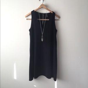 F21 Sleeveless black dress